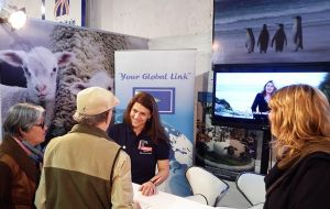 """I have been totally blown away by the amount of people who have (and still continue) to visit the Falklands stand""."