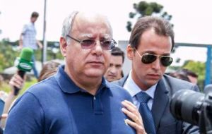 Also sentenced Monday was a former Petrobras director, Renato Duque, who was given a sentence of 20 years and eight months for taking bribes.