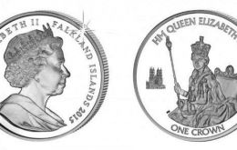 Falkland Islands: The portrait is taken from the Queen's Coronation on June 2, 1953. The privy mark is of Westminster Abbey, where the Coronation was held.