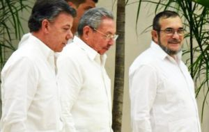 The peace talks in Havana have been ongoing for nearly three years: this was the first time Santos had come to Cuba and his first meeting with Timochenko.
