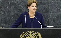 "Brazil's ""energy mix is among the cleanest in the world"" said Rousseff claiming  the country has ""reduced deforestation in the Amazon rainforest by 82%""."