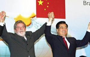 "Thanks to Beijing's exhuberance, then president Lula da Silva status rapidly changed for the business community from ""Satan to God""."