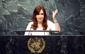 Cristina Fernandez dedicated much of her speech to the UN General Assembly to talk about the spy-case and lack of cooperation from the US