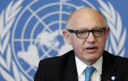 Foreign minister Timerman met in the sidelines of the UN General Assembly with Peter Maurer, president of the Red Cross International Committee