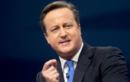 "Cameron told the Jamaican parliament it was time to ""stand up for the rights of small islands"" to self-determination."