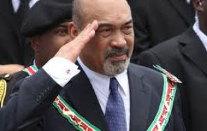 Suriname's Bouterse said that the issue of New River Triangle territory, which both countries have been claiming for decades, was back on the agenda.