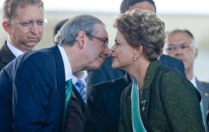 As speaker of the house, Cunha sets the congressional agenda and for accepting or rejecting requests to open impeachment proceedings against Dilma Rousseff