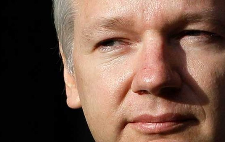 "However police said they would maintain a ""covert plan"" to arrest Assange, 44, who entered the embassy in June 2012 to avoid being extradited to Sweden"
