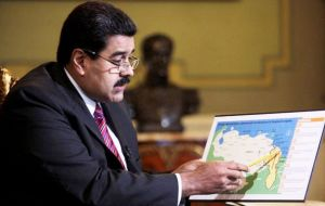 Earlier this year Maduro extended Venezuela's maritime claims after Exxon Mobil announced a significant oil discovery in Guyana's territorial waters.