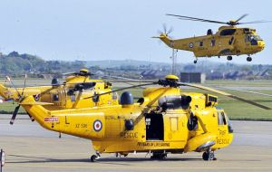 SAR was the first to paint their aircraft yellow with the words 'RESCUE', in black on the fuselage. The Sea King became the sole helicopter type to perform UK SAR helicopter duties since 1990s