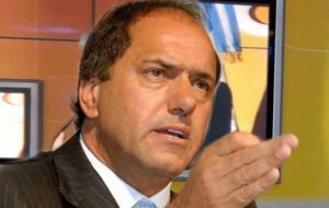 """Blejer could very well sit in a European embassy. In England. With the agenda of looking to advance the Malvinas Islands question"" said Scioli"