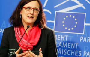 Loizaga has meetings scheduled in Brussels with EU Trade Commissar, Anna Cecilia Malmström and with the head of foreign affairs Federica Mogherini