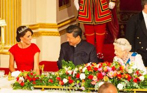 Later they attended a state banquet at Buckingham Palace along with the Duke and Duchess of Cambridge.