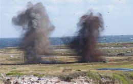 Falklands Demining Program Office has notified that controlled explosions as part of the Demining Project are due to take place on Thursday 22 October.