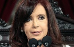 Cristina Fernandez made in congress an unprecedented  display of force for an Argentine president, underlining the quality and efficiency of her leadership