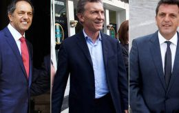 Following Sunday's 'technical draw' between incumbent Scioli, 36.8% and conservative Macri, 34.3%, Massa has become the leader to seduce.