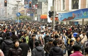 Currently about 30% of China's population is over the age of 50. The total population of the country is around 1.36 billion.