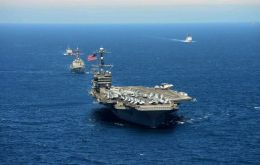 USS George Washington and Carrier Strike Group 9 will be in Latin American waters through December for UNITAS 2015