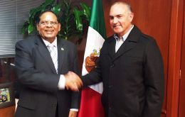 PM Moses Nagamootoo office said Mexico's Agriculture Minister Jose Calzada had given assurances he would fast track arrangements to buy Guyana's paddy.