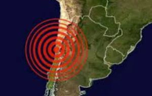Saturday/Sunday's phenomenon was also recorded in the Argentine provinces of San Juan, Mendoza, La Rioja, Cordoba, Catamarca and Jujuy