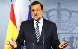 In a nationally televised address, Rajoy said his government will appeal the decision at the constitutional Court, which has in the past blocked such moves