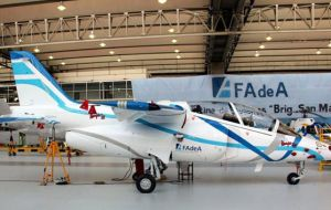Apparently the first Pampa III jet trainer from the Cordoba factory still has to be delivered to the Argentine Air Force. It was promised for last March