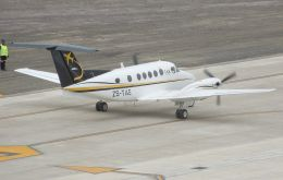 In September, a Beechcraft King Air 200 plane landed at St Helena Airport for the first time, prior to conducting a series of calibration flights.