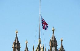 As a mark of respect and expression of solidarity, all Whitehall government departments have lowered their Union Flags to half-mast