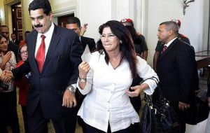 Neither Maduro nor his wife Cilia Flores have commented directly on the case, although they have appeared numerous times on state TV.