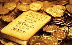 It forecasts gold to remain at $1,100 per ounce for the next three months, $1,050 an ounce for the next six months and $1,000 an ounce for the next 12 months.