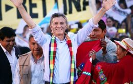 Macri chose Humahuaca, an impoverished town in the northern province of Jujuy, while Scioli attended two rallies in the Buenos Aires province