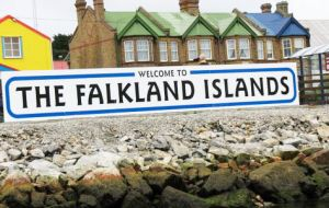 Stanley, the capital of the disputed Falkland Islands