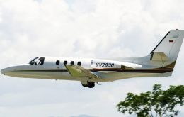 According to US prosecutors the Cessna Citation with 800 kg of cocaine took off from a terminal reserved for government officials at Caracas airport