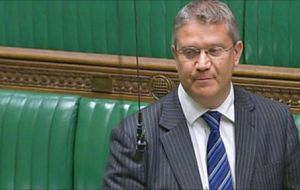 MP Rosindell asked the government to call on new Canadian PM to continue his country's support for the Falkland Islanders' right to self-determination