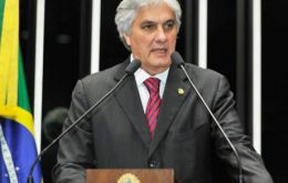 Senator Delcidio Amaral, who leads President Dilma Rousseff's Workers' Party in the upper house, was the first sitting legislator to be put behind bars