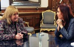 Susana Malcorra is also well known by Cristina Fernandez and they address each other in their first names