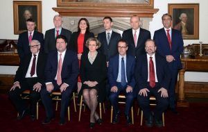 The new Government was sworn in at the Governors residence by Alison MacMillian, who is interim Governor of Gibraltar. (Pic Jim Watt)