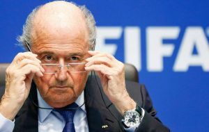 "It's no known if FIFA president Sepp Blatter, who labeled the scandal as ""a non-problem"" gave his watch back"