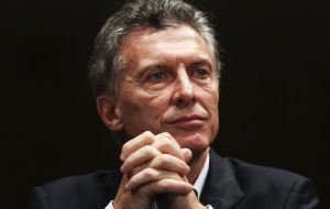 Macri has promised to put Argentina's battered economy back on track after years of what he termed mis-management by his populist predecessors