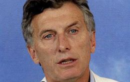 """I will try to set up an instrument, a trust fund so that I can distance myself from all of it"" Macri said."