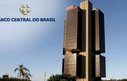 Forecast is from Boletin Focus, a weekly Central Bank survey of analysts from about 100 private financial institutions on the state of the Brazilian economy.