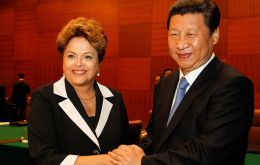 Xi and Rousseff met in Paris where they are attended the opening ceremony of the two-week conference on climate change