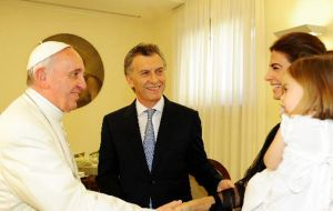 Former mayor of Buenos Aires City Mauricio Macri and family have in effect visited the Pope at the Vatican and they have a good personal relation