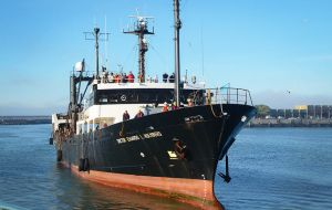 Dr. L Holmberg, was specifically built for fisheries scientific research in 1980 in Japan with a 958 tons displacement
