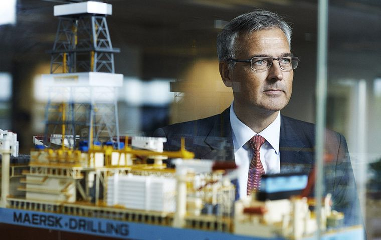 """Maersk Drilling is very pleased with being selected by Total to drill their first exploration well offshore Uruguay,"" said Claus V. Hemmingsen from Maersk"