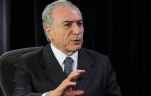 If Rousseff has to step down, she would be replaced by Vice president Michel Temer from the PMDB party, senior ally in the ruling coalition.
