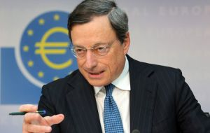 ECB chief said the bank was extending the quantitative easing program by six months, or beyond if necessary, but at the current rate of 60bn Euros a month