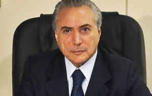 "Vice president Temer has kept a low profile and in briefs comments said he hoped the proceedings would ""pacify"" Brazil's bitter political landscape."