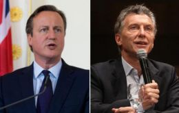 Malcorra said British PM Cameron's gesture of phoning president Macri can only be described as positive.