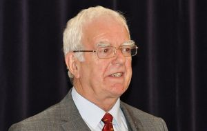 The Honourable Roger Edwards, MLA addressing the AGM  (Pic P.Pepper)